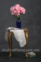 Pink Roses On Venetian Table