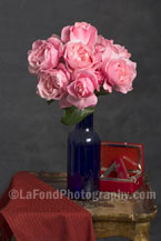 Pink Roses and Jewel Box