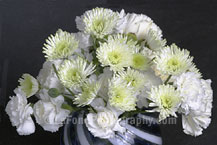 White Flowers In Swirl Vase